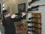What youngster can resist taking aim with a Daisy air rifle.