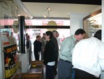 Visitors check out some of the displays in the new museum.