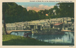 The Monte Ne amphitheater is shown in this picture postcard from the '30s.  All photographs on this website are copyrighted and cannot be reproduced without written permission from the copyright holders.