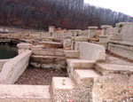 Mid January 2006 shows the same section of the amphitheatre greatly expanded by dropping water level.  Copyright 2006